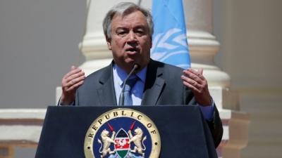 11 Kenyans sacked at the UN Habitat appeal to visiting Secretary General Antonio Guterres